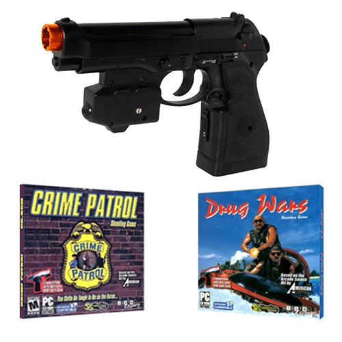 Top Gun Ps2 - EMS Top Gun 3 Cime Patrol PC Game Pack - Wireless Light Gun for PC, MAME, PS2, PS3, and XBOX on ANY Display Including CRT, LCD, Plasma, HD TVs and Projectors!
