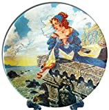 The Franklin's Tale Collector's Plate from The Canterbury Tales series by G.A. Hoover, Longton China, England