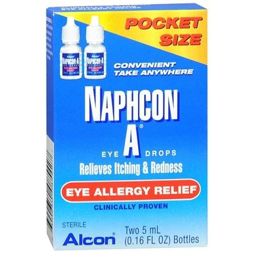 Naphcon-A Eye Allergy Relief Eye Drops, 5ml (0.16 floz), (Allergy Relief Eye Drops)