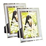 Giftgarden Modern Glass Picture Frame 4x6 Friends gifs for 4 by 6 Photo Display 2 PCS