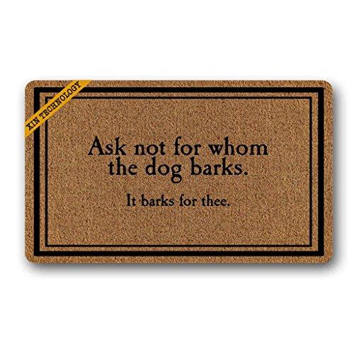 - Artsbaba Welcome Doormat Ask Not For Whom The Dog Barks Door Mat Indoor Floor Mat Rug Non-woven 30