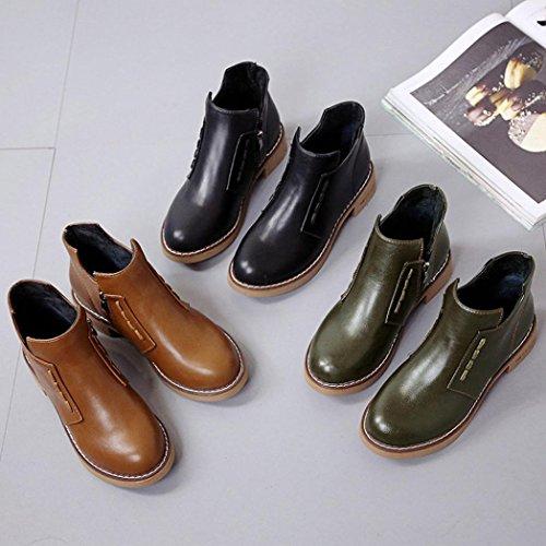 Femme Marron Boots Glauque Noir Chelsea wx84qXPYn