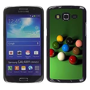 TopCaseStore / la caja del caucho duro de la cubierta de protección de la piel - Billiards Pool Balls - Samsung Galaxy Grand 2 SM-G7102 SM-G7105