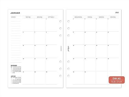 pen & pages® 2020 - Calendario con vista mensual continua ...