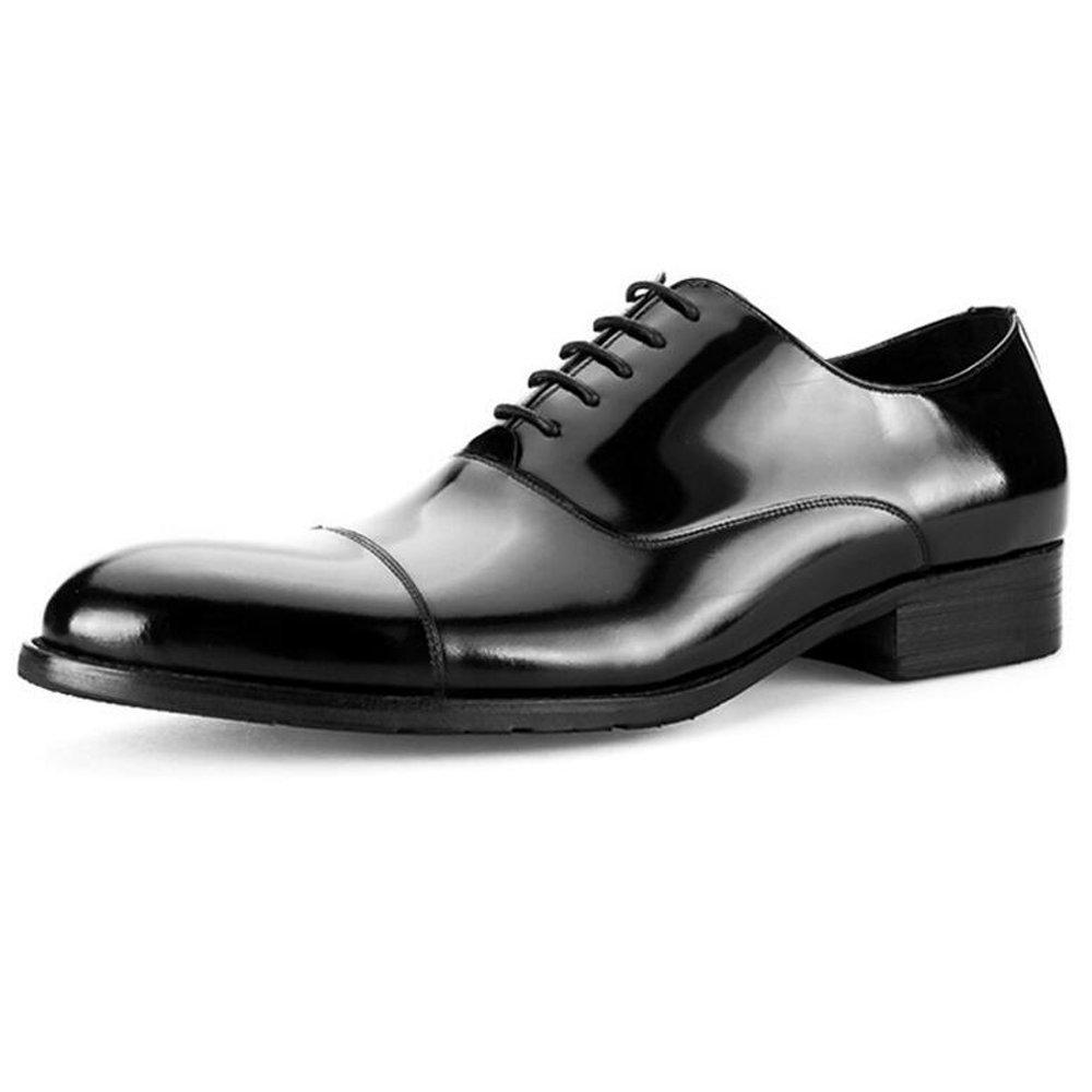 JUNBOSI Lackleder Hochwertige Lederschuhe - Schwarz Herren Lackleder JUNBOSI Business Kleid Schuhe Fashion Party High-End-Kleid Schuhe Größe 6-12 (Farbe   Schwarz, Größe   39) 0fd8f0