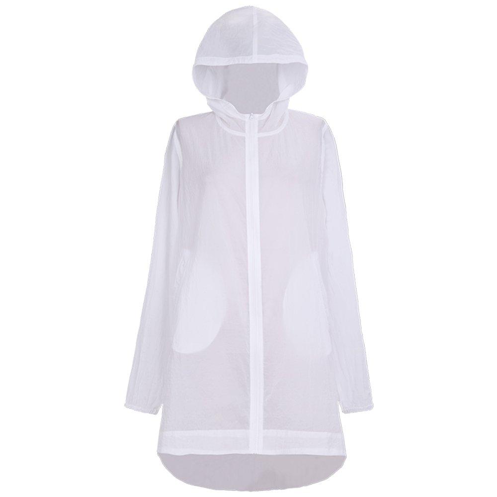 Huifang Femenino capa Acolchado Verano Femenino Huifang Blanco Protección Solar Ropa/Suelta Playa Larga Sección Protector Solar Chal/Moda al Aire Libre Cárdigan Anti UV (Tamaño : Metro) 815e0f