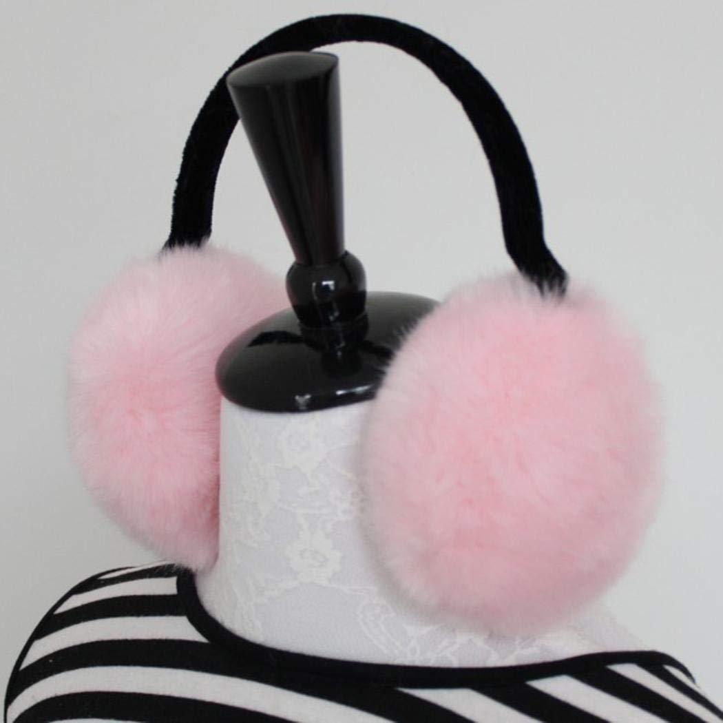 Kikole Women Fashion Winter Foldable Faux Fur Solid Fuzzy Warm Earmuffs Earmuffs