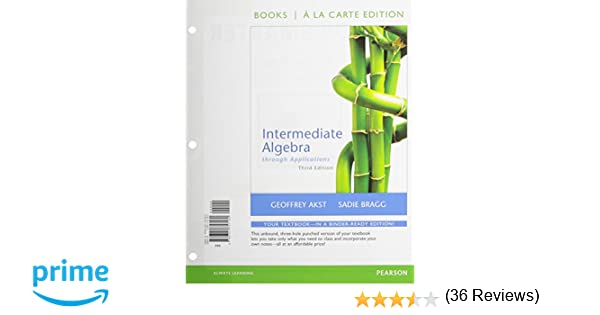 Intermediate algebra through applications books a la carte edition intermediate algebra through applications books a la carte edition plus new mymathlab with pearson etext access card package 3rd edition geoffrey fandeluxe Image collections