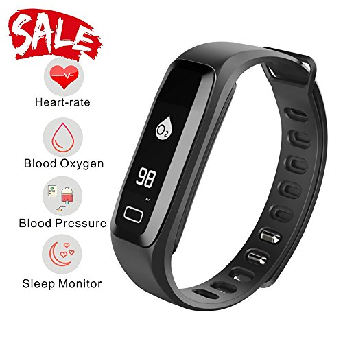 Monitor Watch Pro Rate Heart (Smart Watch, Fitness Tracker, READ R6.PRO Heart Rate Monitor Blood Pressure Bracelet Pedometer Activity Tracker Sleep Monitoring Call SMS SNS Remind Watch for Android iOS (Black))