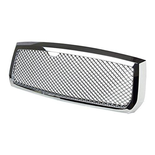 (Chrome ABS Plastic Sport Mesh Front Bumper Grille for Dodge Dakota 05 06 07)