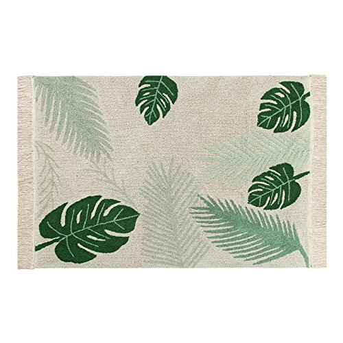 Lorena Canals, Artisan Made Tropical Green Palm Leaf 4'7