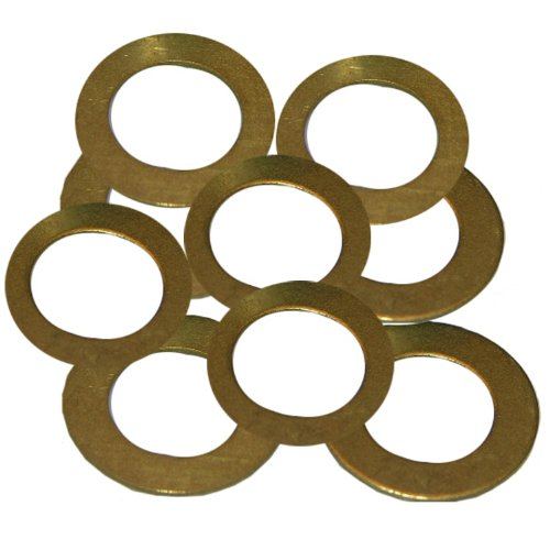 LASCO 02-2333 Brass Assorted Friction Rings, 10-Pack