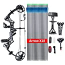 """Compound Bow Package,M1,19""""-30"""" Draw Length,19-70Lbs Draw Weight,320fps IBO Via Express Service Delivered Within 7Days(BLACK)"""