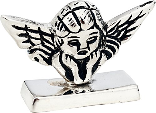(Luna Bazaar Cherub Place Card Holder (1.25-Inch, Silver Plated Solid Brass) - for Home Decor and Wedding Tabletops)