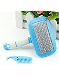 Want 1 Piece Grip Handle Shedding Pet Dog Cat Hair Brush Pin Fur Grooming Trimmer Comb Tool deal