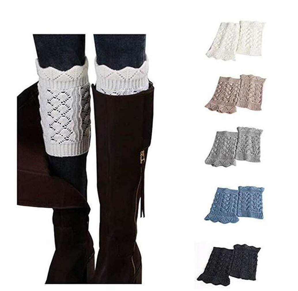 5 Pairb Jiuhexu 5 Pairs Women Winter Warm Crochet Knitted Boot Cuff Socks Short Leg Warmers