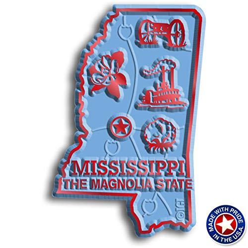 Mississippi State Map Magnet