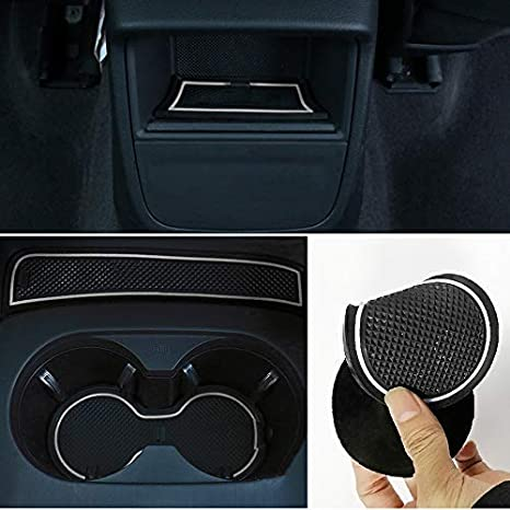 Red Pack of 9 LITTOU Custom Fit Cup Door Console Liner Accessories Gate Slot Non-slip Anti-dust Cup Holder Mat Compatible for A3 2013-2017