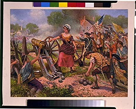 amazon com photo molly pitcher firing cannon battle of monmouth