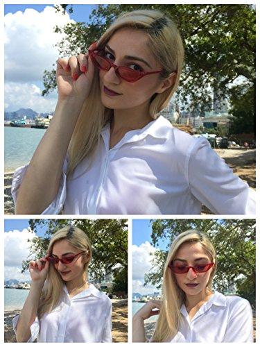 Mark Fashion 52mm High Freckles Cateye Para Celebrity mujer Red Slim qtpZZwd