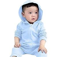SiQing - Overol con Capucha y Cierre para bebés y niñas