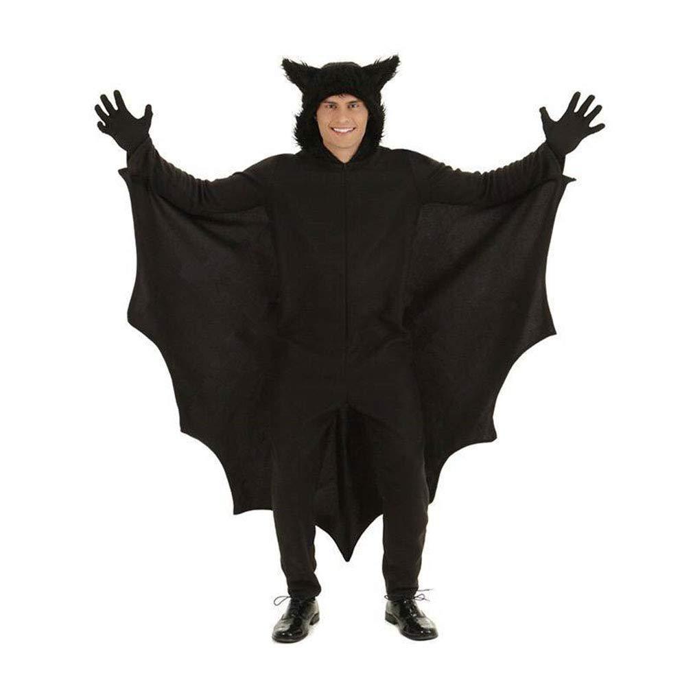 Huam Costume Di Halloween Costume Di Carnevale Abbigliamento Pipistrello Adulto Caricamento Abbigliamento Cosplay Feste In Maschera Nero (Colore : Nero, Dimensione : Xl)