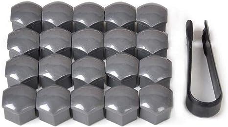 Antipolvere M/&H Set di 20 copribulloni per Pneumatici Auto 17 mm