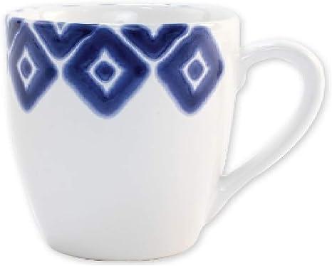 Vietri Viva Santorini Diamond Mug Coffee Cups Mugs