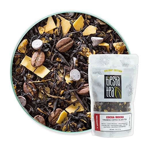 Tiesta Tea – Cocoa Mocha, Loose Leaf Tiramisu Coffee Black Tea, High Caffeine, Hot & Iced Tea, 1.8 oz Pouch – 25 Cups…