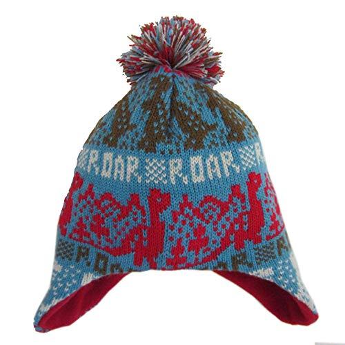Miaha Kids Baby Toddler Boys Knitting Hat Winter Warm Earflap Skiing Snow Hat Fleece Hairball Cap