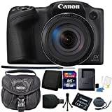 """Canon PowerShot SX420 IS 20.0MP HD 720p Video Recording 1.2.3"""" CCD 42x Optical Zoom Lens 24-1008mm (35mm Equivalent) Built-In Wi-Fi ISO 1600 Black Digital Camera + 16GB Accessory Kit"""