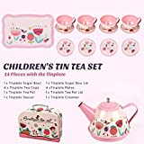 Noetoy Tea Set for Little Girls, Kids Tea Set 15