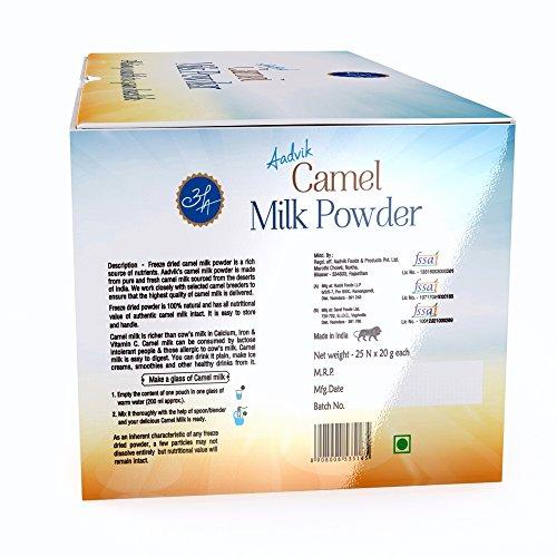 Aadvik Camel Milk Powder 0.7 Oz x 25 servings, 17.5 Oz makes 175 fl oz (Freeze Dried, Gluten free, no additives, no preservatives) by Aadvik (Image #1)