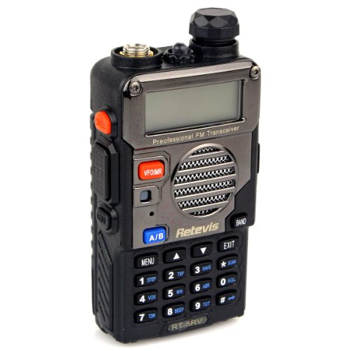 Retevis RT-5RV Walkie Talkies 5W 128CH Dual Band VHF/UHF 136-174/400-520 MHz VOX CTCSS/DCS FM Ham Radio with Earpiece (10 Pack) and Speaker Mic (10 Pack) by Retevis (Image #2)'