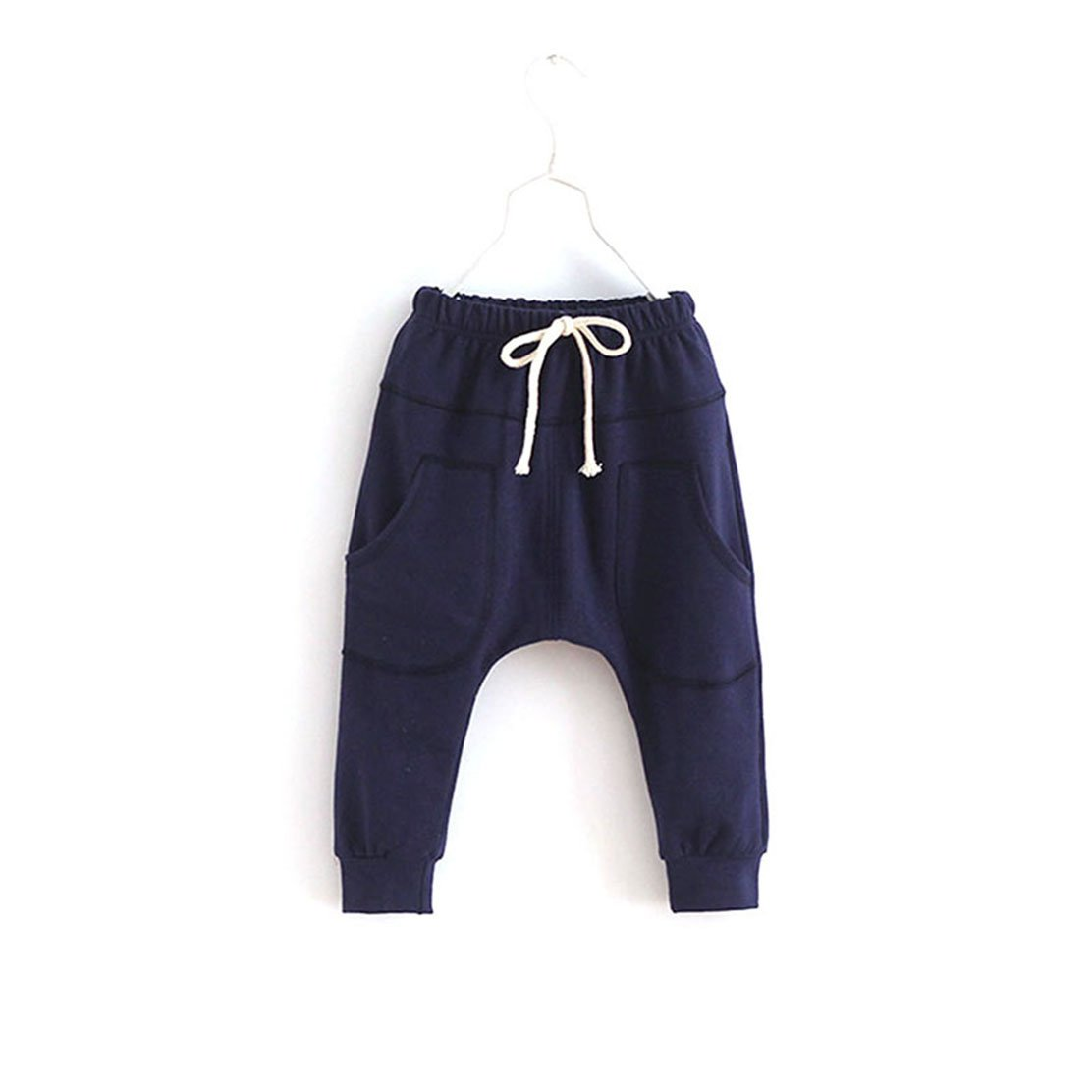 Sports Fitness Kid Toddler Child Harem Pants Baby Boy Girl Trousers Bottoms Blue 6