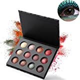 Paleta de sombras de ojos, maquillaje de los mejores desnudos al horno sombra de ojos en polvo maquillaje de brillo brillo metálico, 12 colores