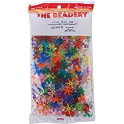 The Beadery 18mm Sunburst Beads, Multi, 270-Piece Per Bag