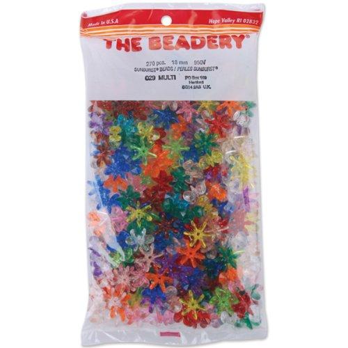 - The Beadery 18mm Sunburst Beads, Multi, 270-Piece Per Bag