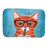 Floor Mats Welcome Animal Rug Cat Bathroom Carpets Children Room Doormats Anti-Slip Computer Desk Chair Cushion(2#)