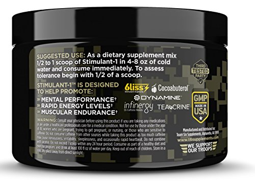 T6 Stimulant-1 Pre Workout Powder - World's Strongest ...