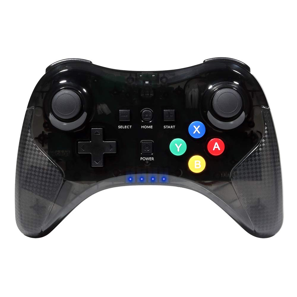 Wii U Pro Controller Wetoph GD26 Dual Analog Wireless Bluetooth Joystick Game Controller with USB cable for Nintendo Wii U(Third Party Product)-Black