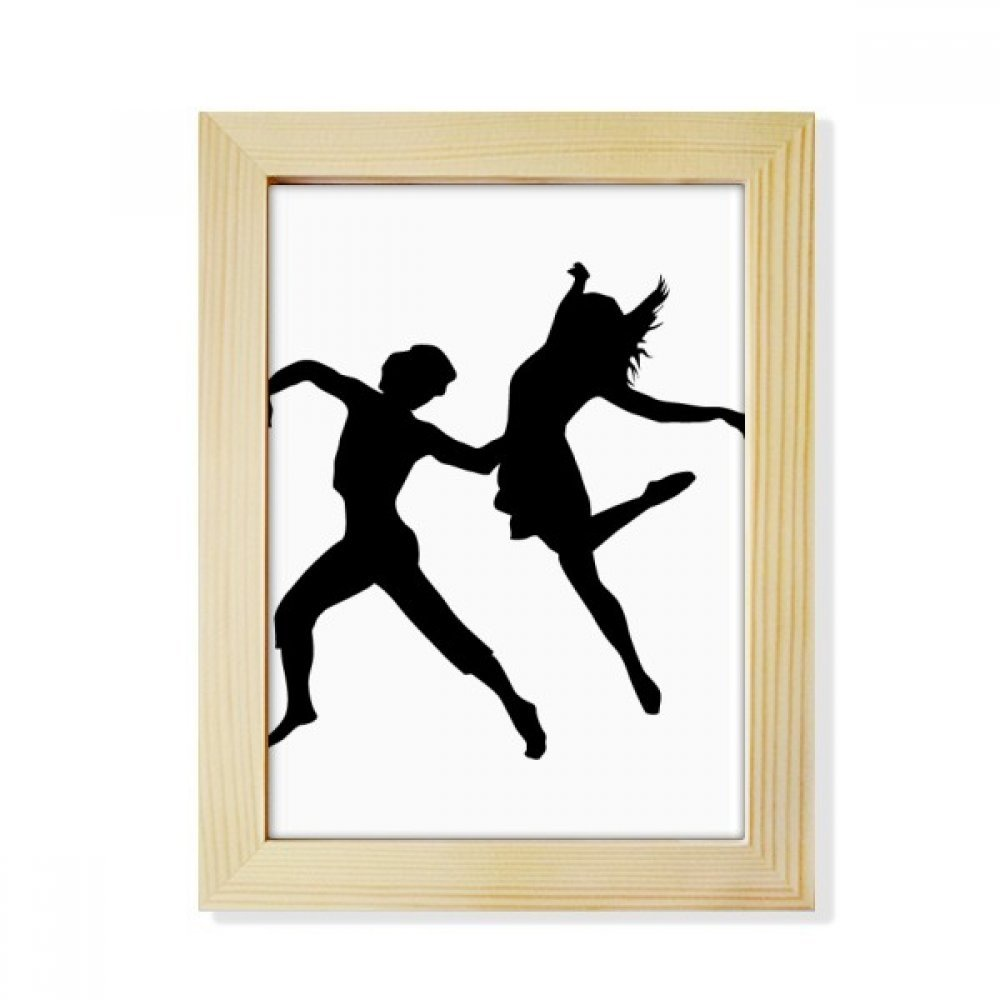 Duet Dance Dancer Sports Performance Desktop Wooden Photo Frame Picture Art Painting 6x8 inch