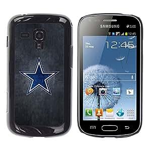 YiPhone /// Prima de resorte delgada de la cubierta del caso de Shell Armor - Blue Star Sports Team - Samsung Galaxy S Duos S7562