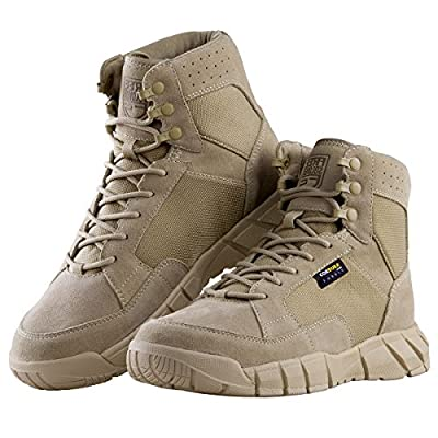 "FREE SOLDIER Men's Tactical Boots 6"" inch Lightweight Breathable Military Boots for Hiking Work Boots"