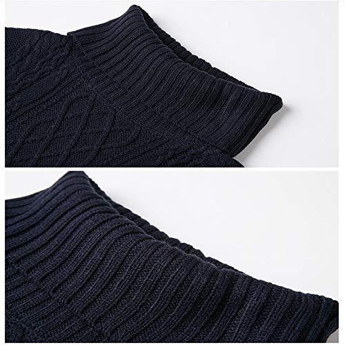 Mujeres Clothing Cuello Suéter Las Vestido Invierno Larga Suelta De Alto Espesar m Sólido Punto Manga Caliente Xmdnye Señora nfdxqXa8w8
