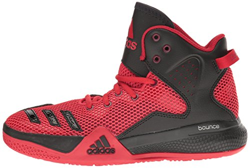 Pictures of adidas Kids' DT Bball Mid J Skate Shoe Black/White M US Big Kid 5