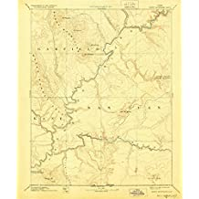 Henry Mountains UT topo map, 1:250000 scale, 1 X 1 Degree, Historical, 1892, updated 1928, 19.8 x 16.5 IN