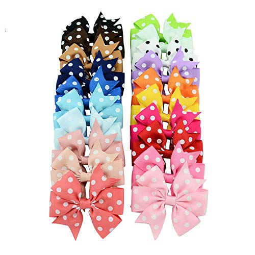 (40 Pcs/Lot) 3 Inch Grosgrain Ribbon Bows WITH Clip Pinwheel Hair Clips Hair Pins Accessories 564 point bow with clip