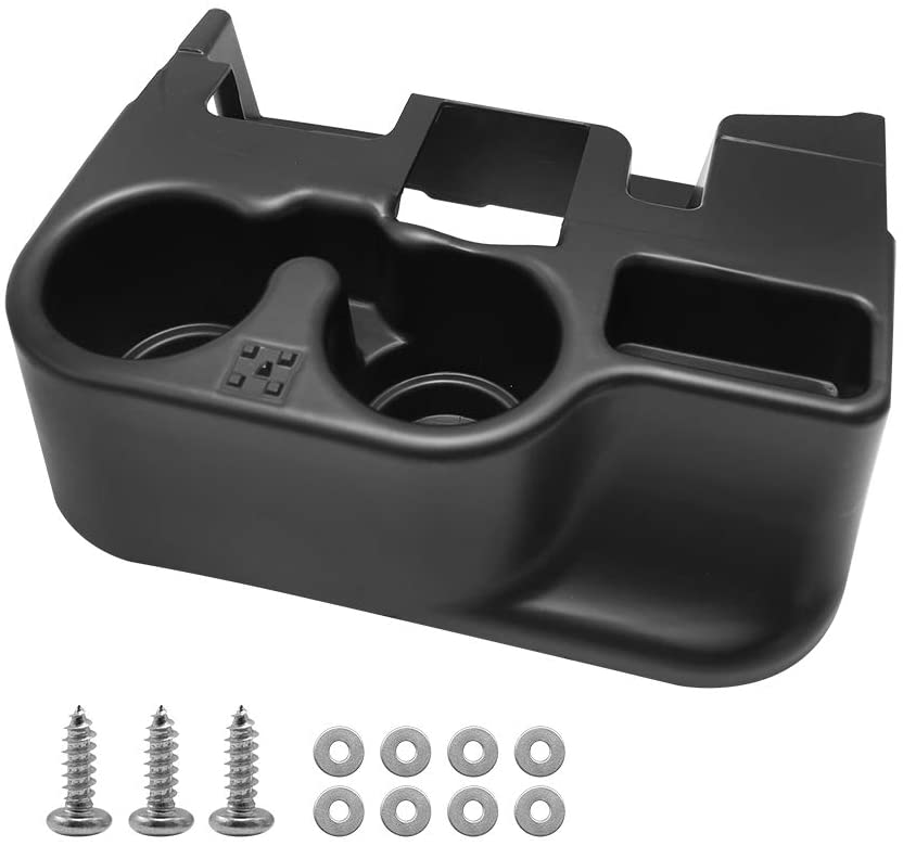 Black Center Console Cup Holder Storage Box for Dodge Ram 1500 2500 3500 2003-2012