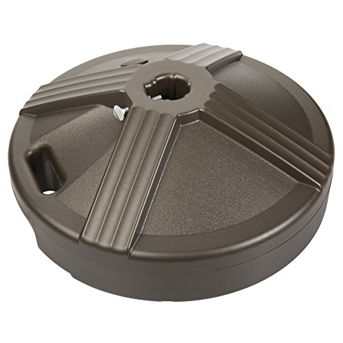 US Weight Durable Fillable Umbrella Base Designed to be Used with a Patio Table (Bronze) (Deck Ideas Patio And Inexpensive)
